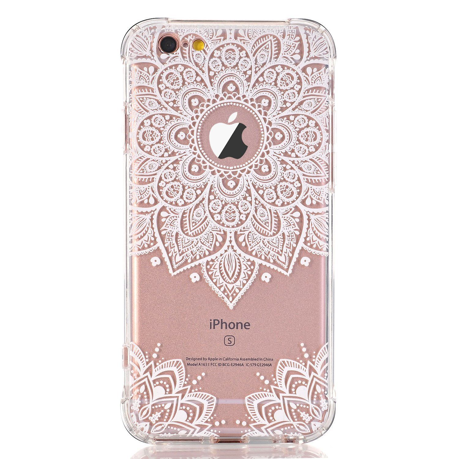 separation shoes 65d8f 82672 iPhone 8 Case,iPhone 7 Case LUOLNH White Henna Mandala Transparent ...
