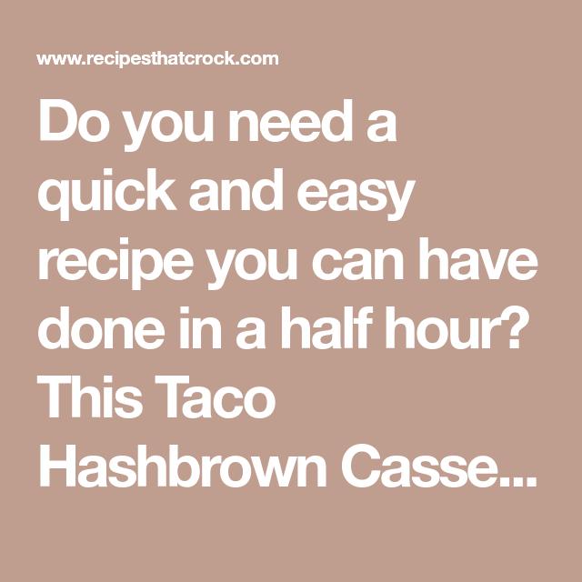 Taco Hashbrown Casserole (Oven Recipe) - Recipes That Crock!