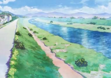 Artificial Riverbank Tv Tropes Anime Scenery Scenery Background Anime Places