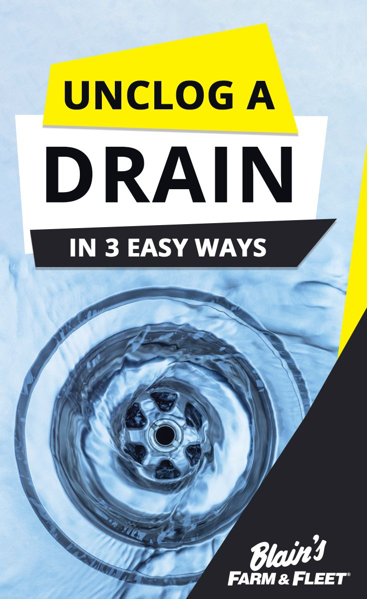 Unclog a Drain in 3 Easy Ways | Clogged toilet, Easy and Blog