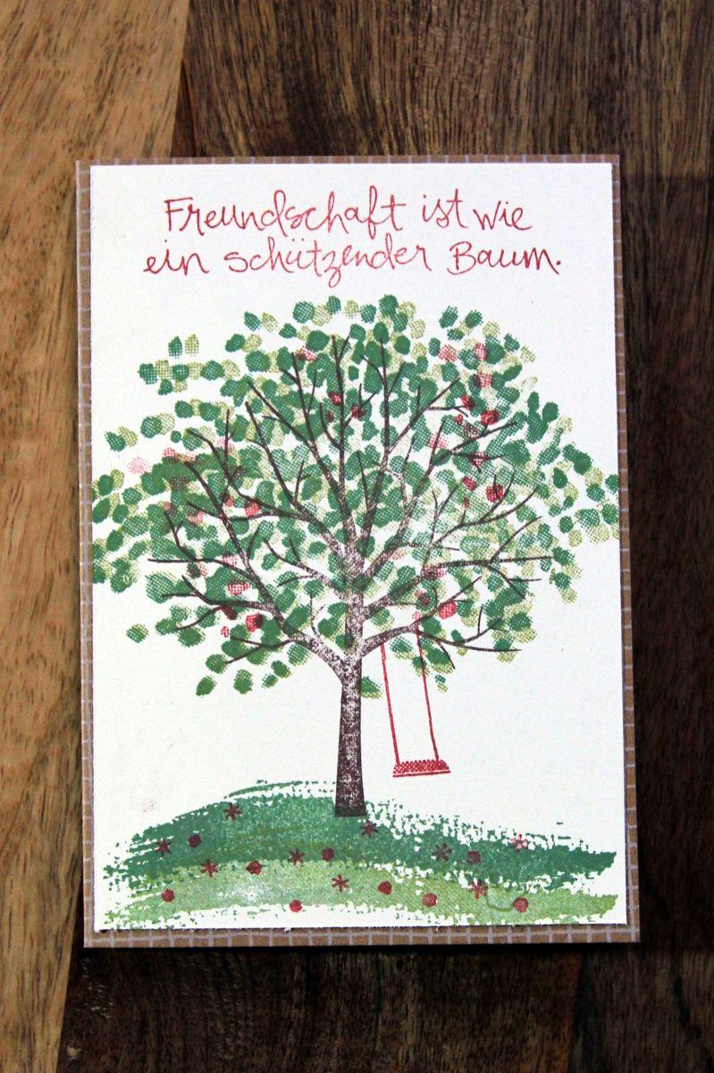 """Karte mit dem Stampin` Up Stempelset """"Baum der Freundschaft"""". Zuerst gebloggt auf Leben am Rande der Zivilisation."""