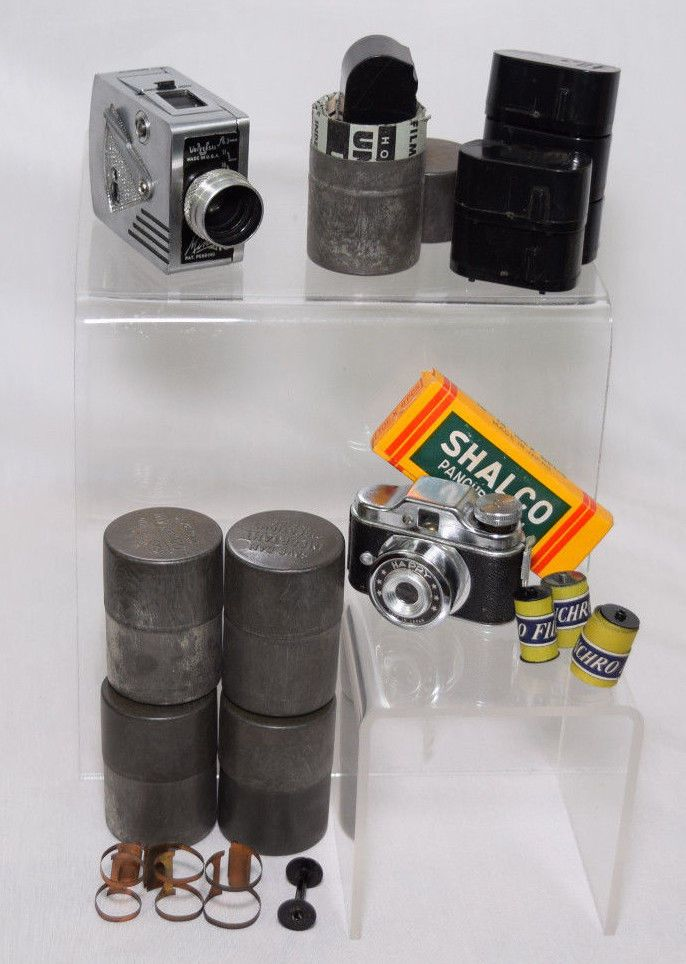 Vintage Spy Camera Lot Minute Mm Happy Film Canisters Accessories Universal