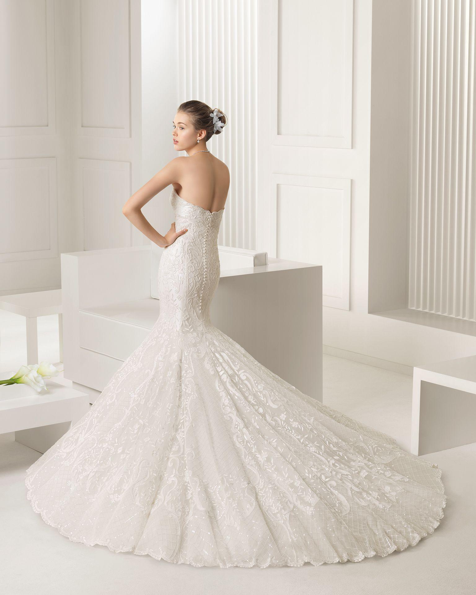 Vestidos de novia y vestidos de fiesta   Rosa clará, Sirenitas y Novios