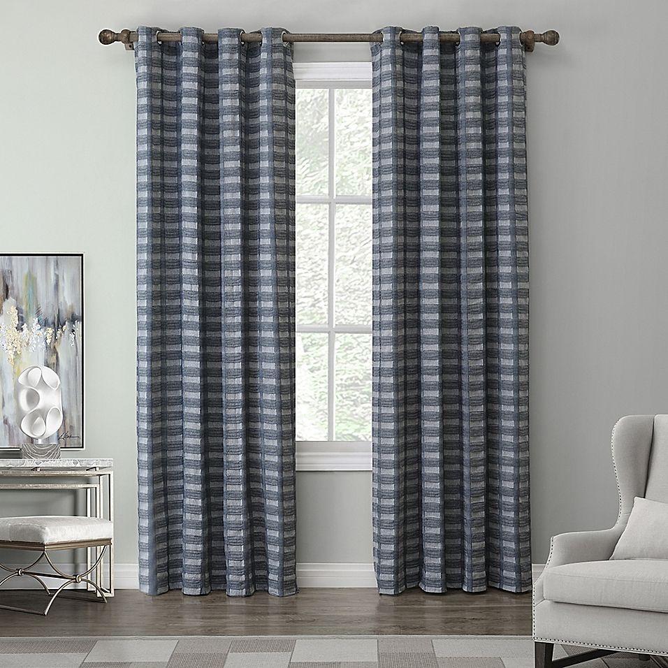 "Casual Dining Room Curtain Ideas: Tyler 108"" Grommet Top Window Curtain Panel In Indigo"
