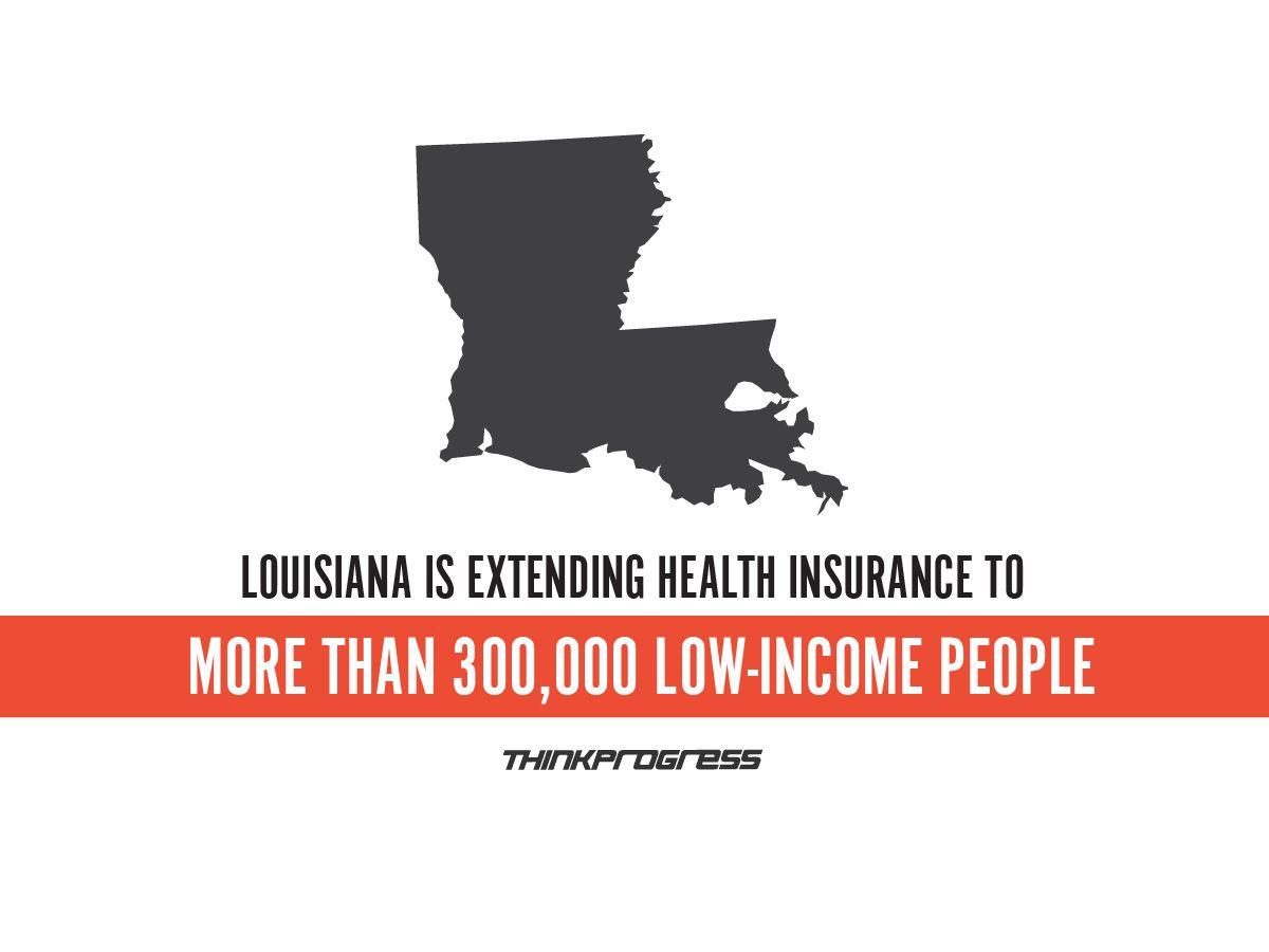 Way To Go Louisiana Via Think Progress Louisiana Progress Health Insurance