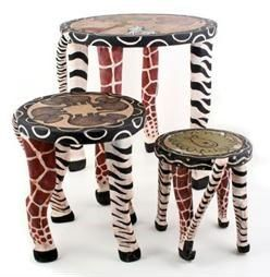Excellent Safari Wooden Hand Painted Animal Stools Buy Safari Wooden Gmtry Best Dining Table And Chair Ideas Images Gmtryco