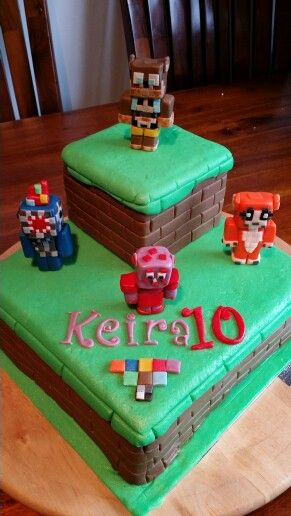 Mine craft cake Birthday Ideas Pinterest Cake Cake board and