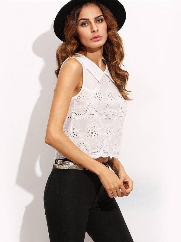 Conhecido Blusa Cropped de Lese Branca - Compre Online | DMS Boutique | MODA  BU34