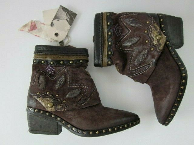 f76dc9b7c2e NEW AS 98 Swain Lotus Blossom Brown Suede Boots Size 37 USA 6.5 Free People  $348
