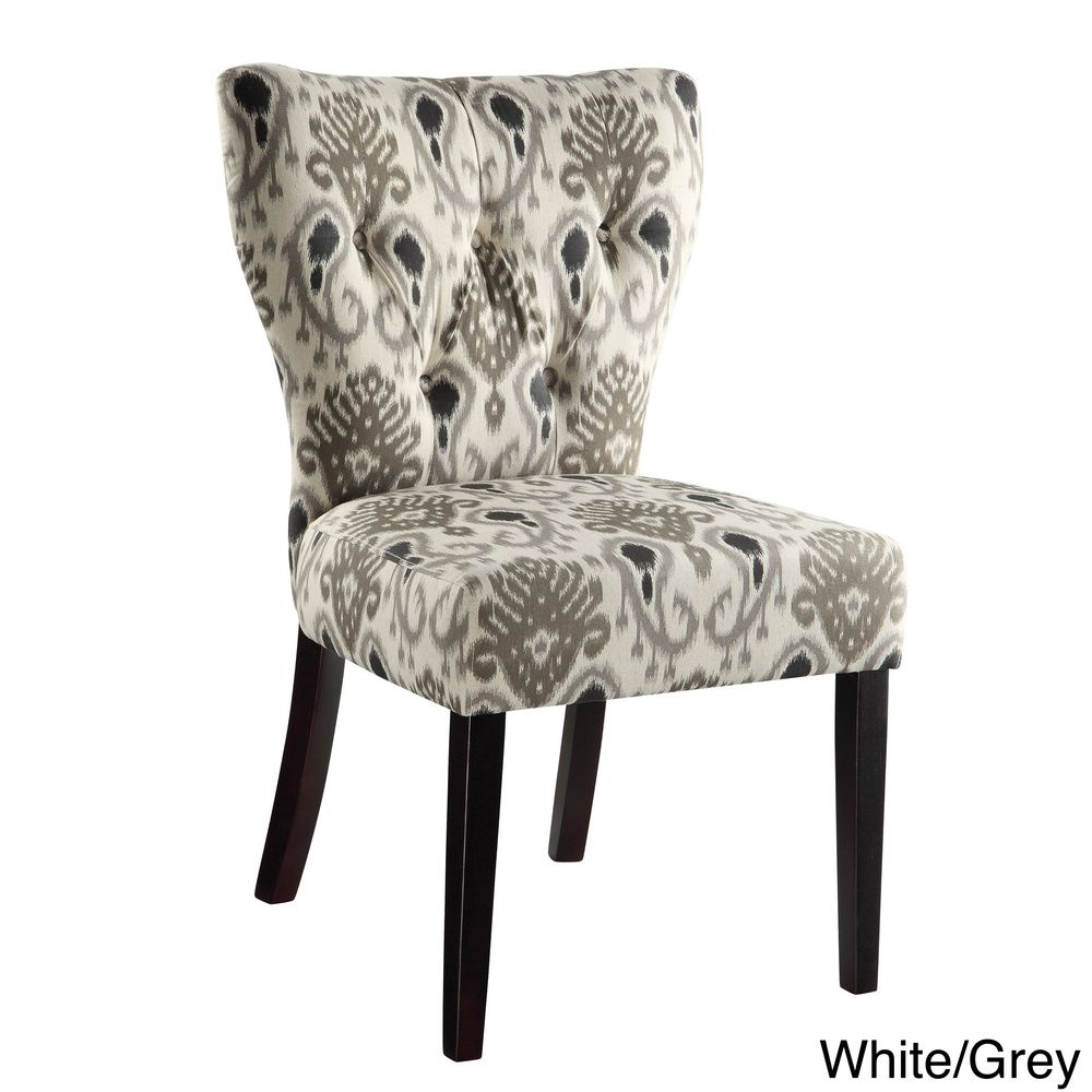 Ave Six Andrew Tufted Back Armless Chair Overstock