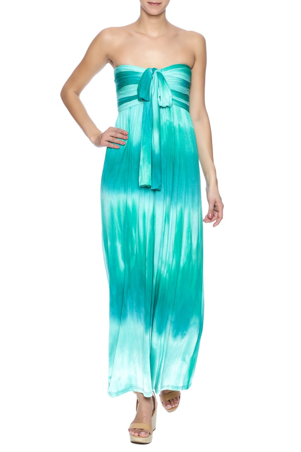 Beautiful Tie Dye Dress Can Be Worn Two Ways As A Halter Or Strapless Once You The Straps Around Your Back Maxi By Catwalk Studio