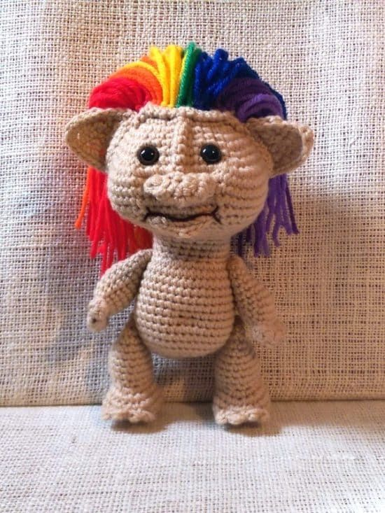 Crochet Troll Doll Best Free Easy Patterns Tutorials | MISC | Pinterest