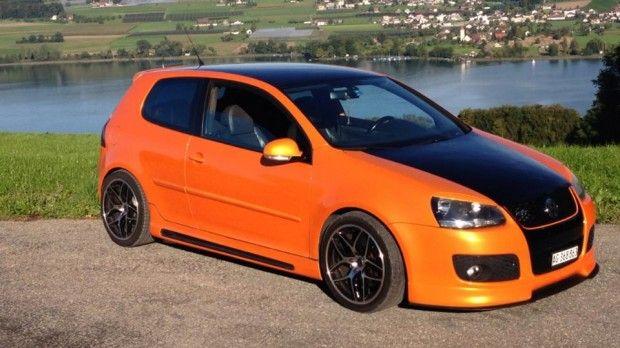 Orange-black Volkswagen Golf GTI – Limi Mulaj