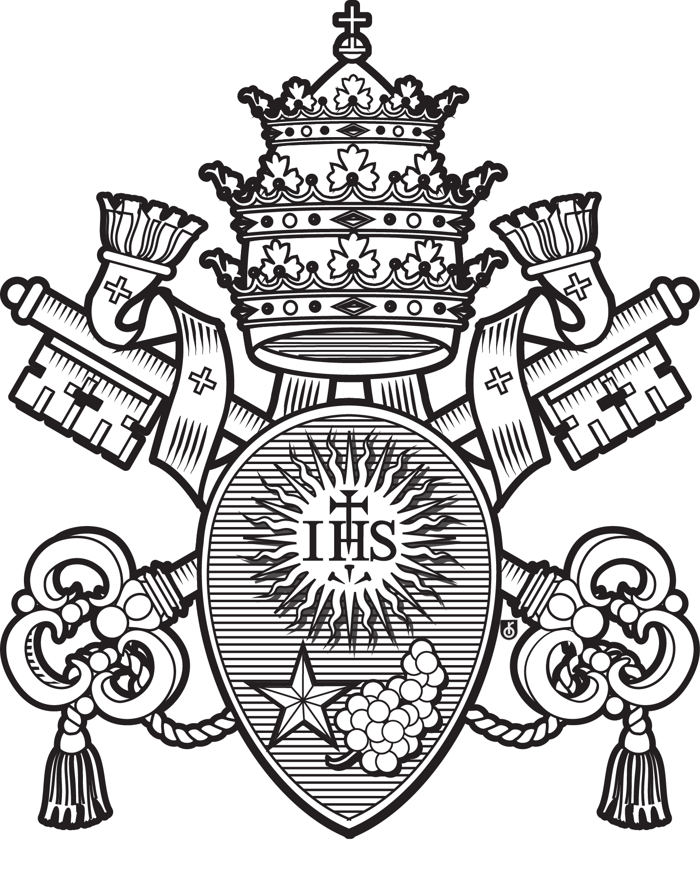Pope Francis Coat Of Arms Coloring Page 92799 | LOADTVE