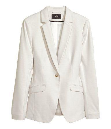 Fitted Jersey White Blazer H&M   Wardrobe   Blazer, Blazer