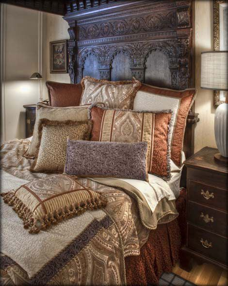 32 Stunning Luxury Master Bedroom Designs Photo Collection: Sweet Dreams Decorative Pillows And Luxury Bedding