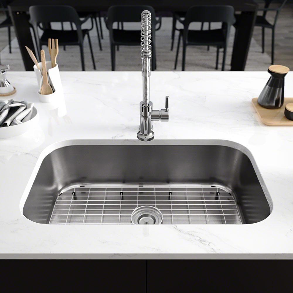 Rene Undermount Stainless Steel 31 1 2 In Single Bowl Kitchen