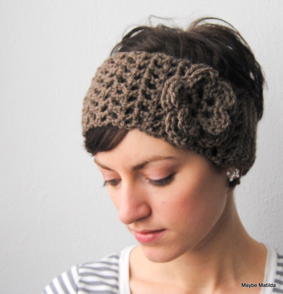 Pdf pattern for crochet earwarmer headwrap and flower with pdf pattern for crochet earwarmer headwrap and flower with permission to sell what you make bankloansurffo Image collections