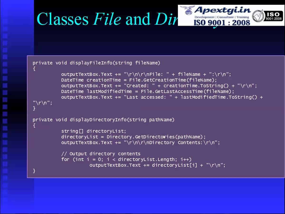 Learn files and streams handling in asp net httpyoutu