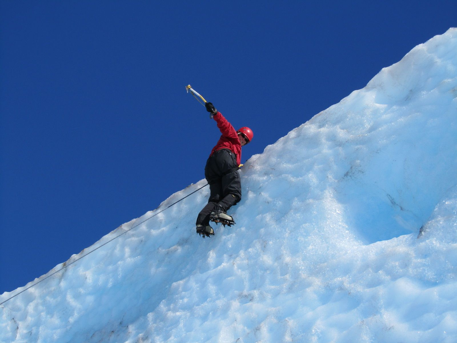 Ice Climbing Mendenhall Glacier AK  copyrighted 2014 Dark Woods Studios, Ltd. Co. dwoodstudio.com