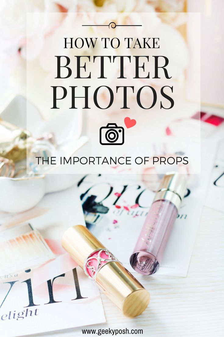 How to take better (blog) photos: props