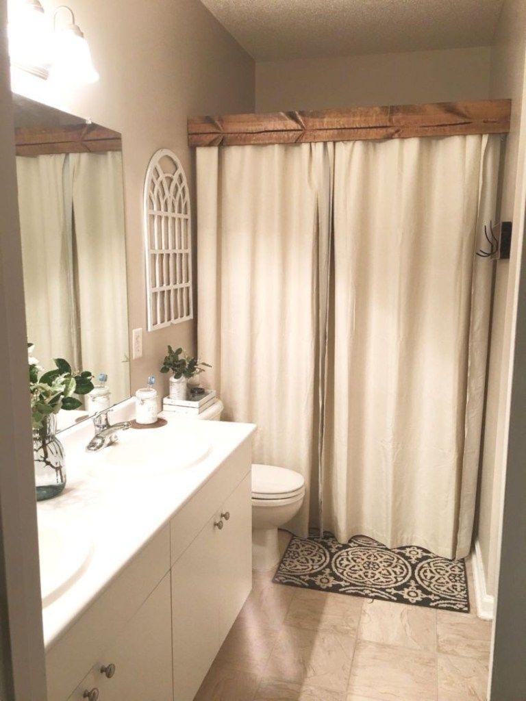 116 Rustic Farmhouse Bathroom Ideas With Shower Matchness Com