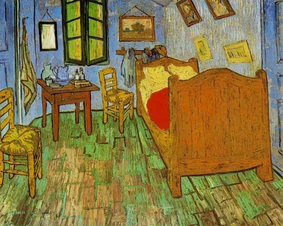 Vincent van Gogh - Van Gogh\'s Bedroom at Arles - we have this ...