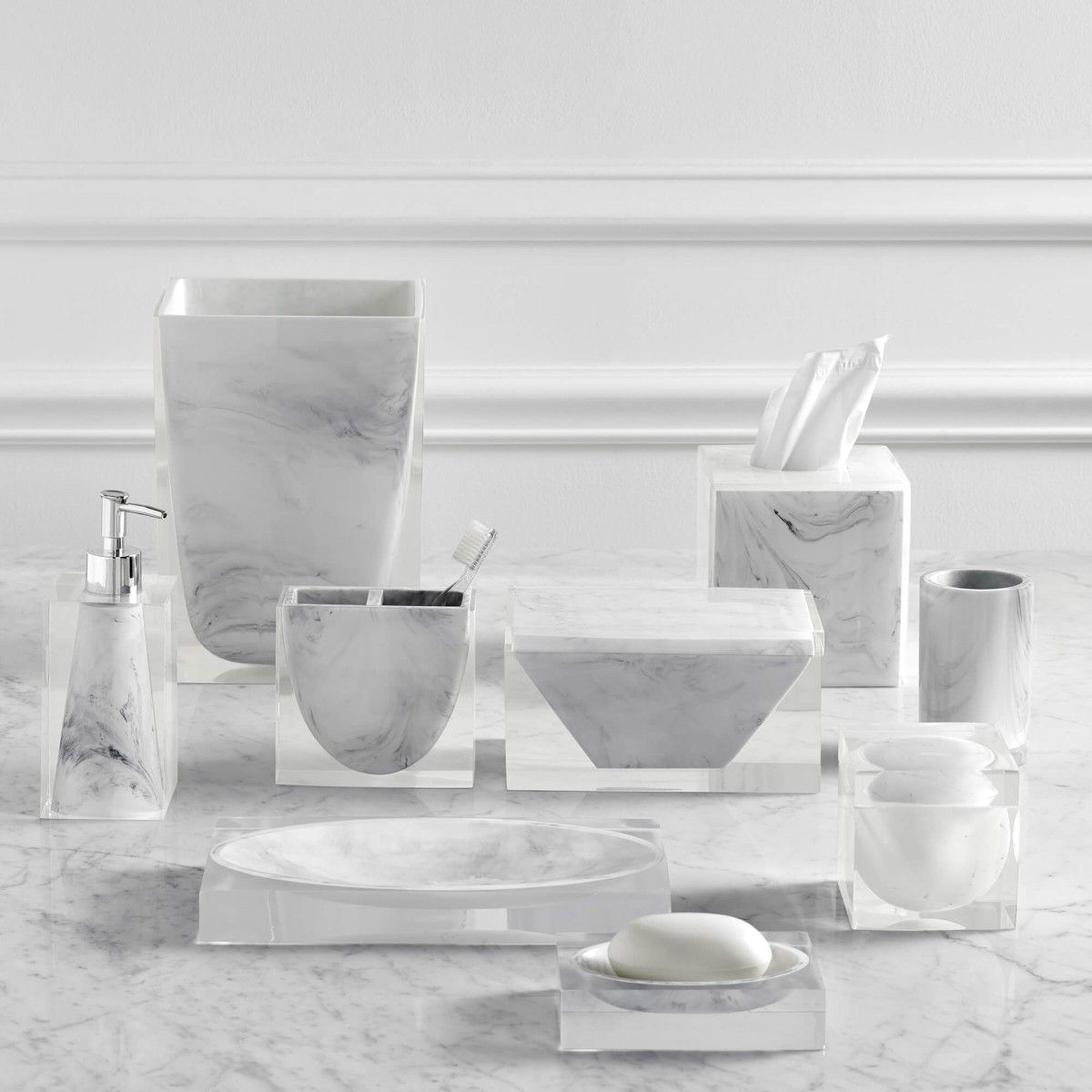 Kassatex Ducale White Bath Accessories Bathroom Decor