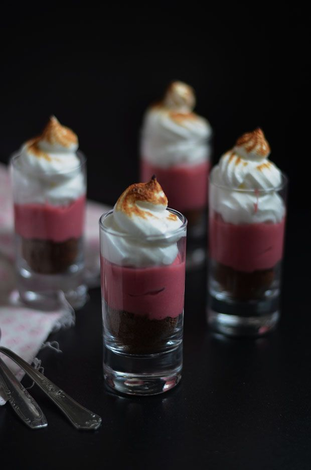 Raspberry Curd and Chocolate Meringue Pies