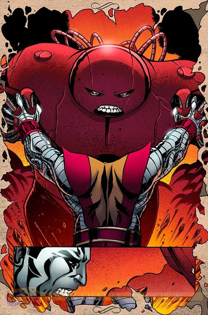juggernaut vs colossus colossus xmen pinterest