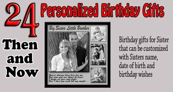 Personalized Gift Ideas For Sister Turning 24 Happy Birthday Printable Cards With Wishes 24th Bday Photo Collage