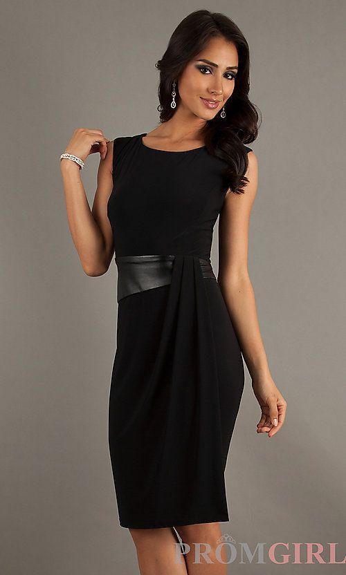8f82969f1467 Short Black Sleeveless Dress