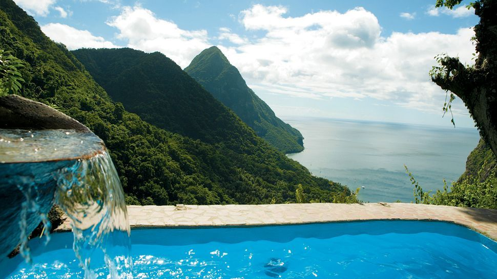 Hotels with view: Ladera Resort, Saint Lucia