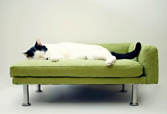 Modern Pet Bed chaise lounge chair Cat Bed / Small Dog door ModPet, $145.00