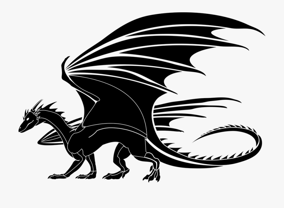 Toothless Clipart Cartoons Medieval Dragon Clipart Black And White Black And White Dragon Clipart Dragon Silhouette Dragon Images Medieval Dragon