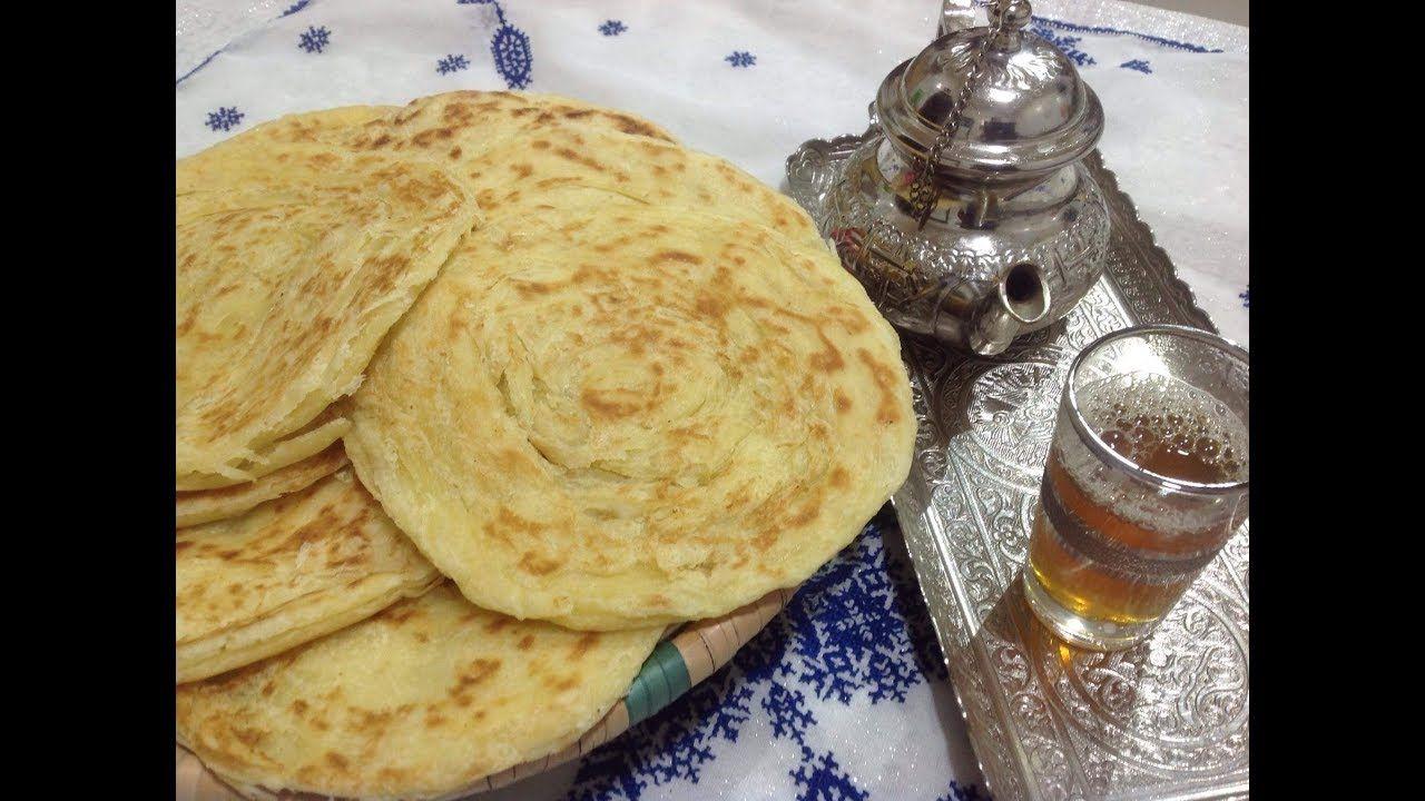 ملوي مغربي مورق و هشيش بدون دلك او مجهود طريقة جديدة New Malwi Marocain Youtube Food Breakfast Cheese