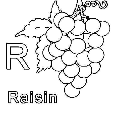 dessin r comme raisin a colorier dessins broderie pinterest