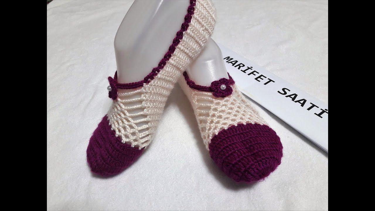 Çeyizlik Şık Sandalet Patik Modeli Yapılışı Türkçe Videolu