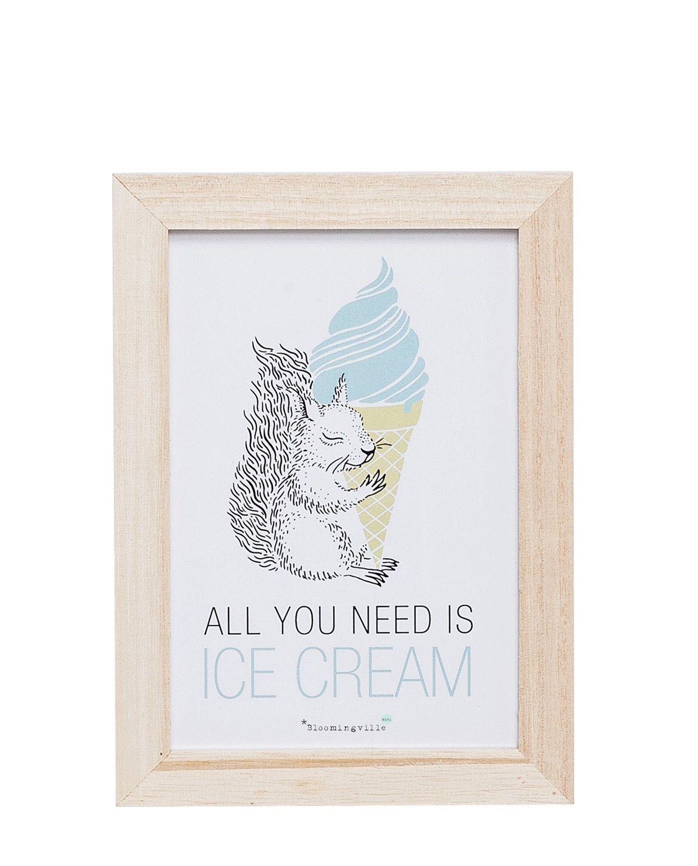 Print mit Rahmen Squirrel All you need...   Oh la la!!!!   Pinterest