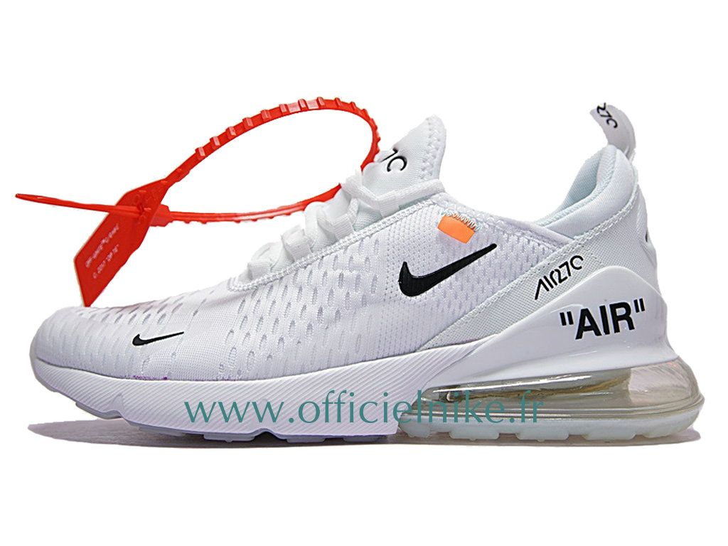 factory price da34f 9e02b Homme Femme Enfant Chaussure Officiel Off-White Nike Air Max 270 Blanc