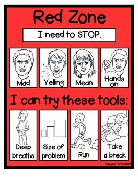picture relating to Zones of Regulation Printable called One sheet mini-poster-Tailored towards serious Zones of