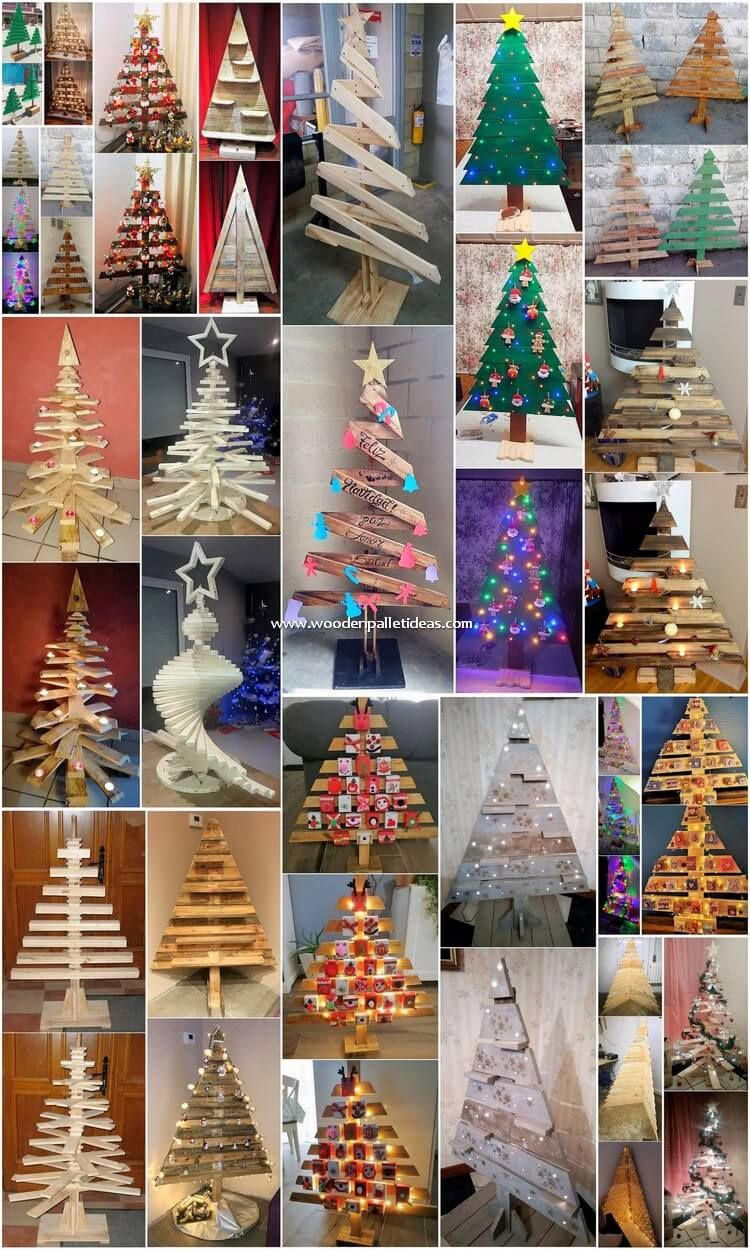 Diy Pallet Christmas Tree Ideas Wood Christmas Tree Pallet Christmas Tree Palette Christmas Tree