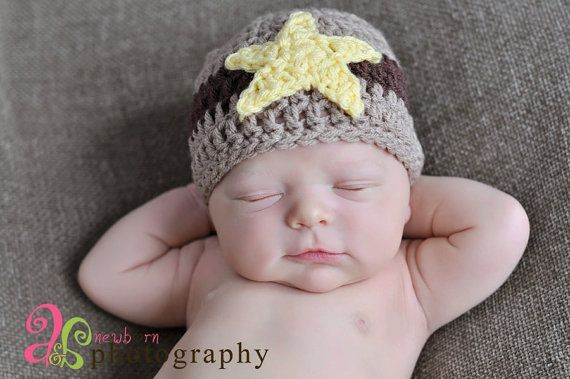 fdaefe47844 SHERIFF NB Beanie by CrochetCuteness on Etsy