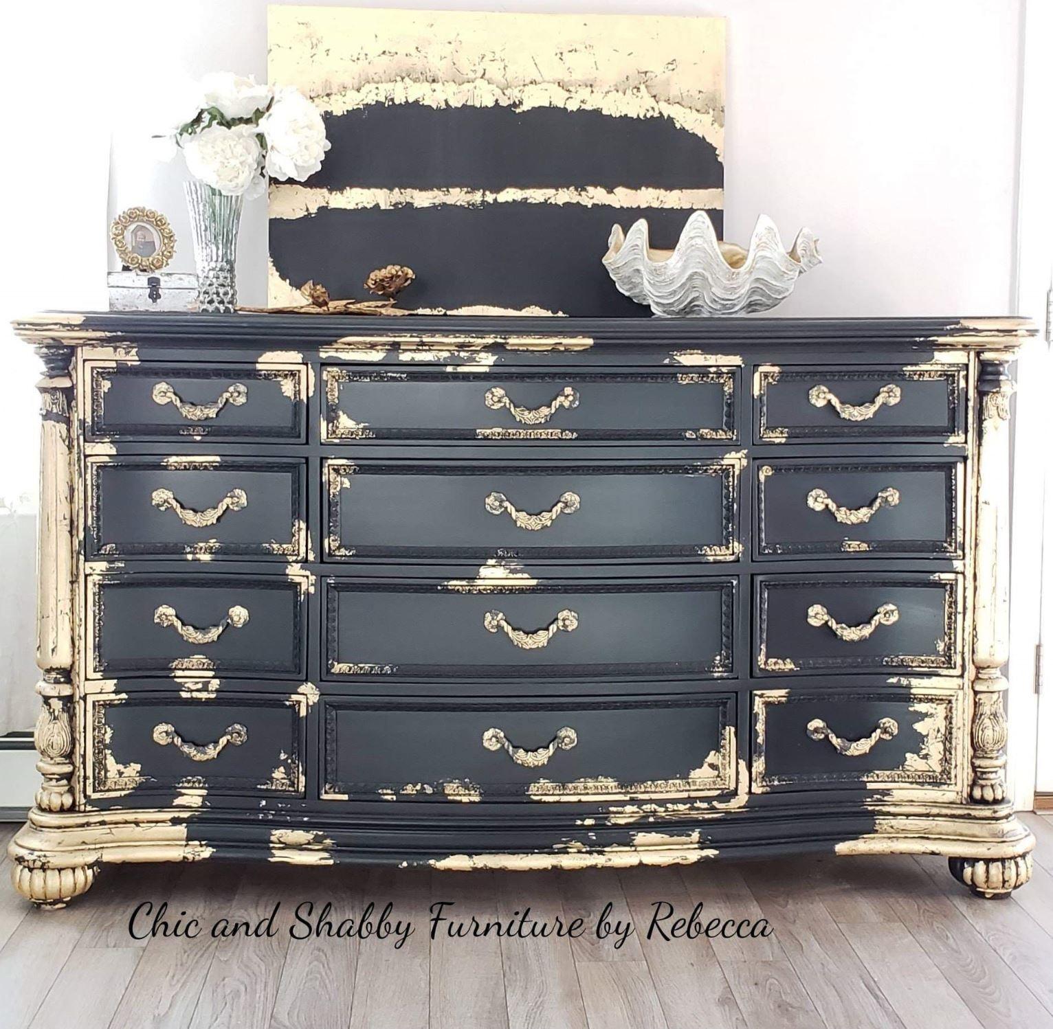 Adding Gold Foil Or Metallic Gilding Shabby Furniture Gold Leaf