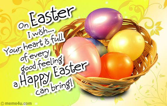 My Easter Wish Easter Wishes and Greetings Pinterest – Easter Greeting Card Sayings