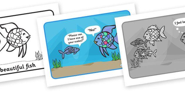 The Rainbow Fish Story Sequencing Week 29 Ocean Rainbow
