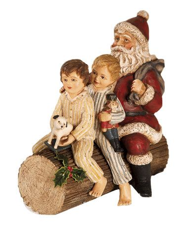 Look what I found on #zulily! Riding the Yule Log Figurine #zulilyfinds