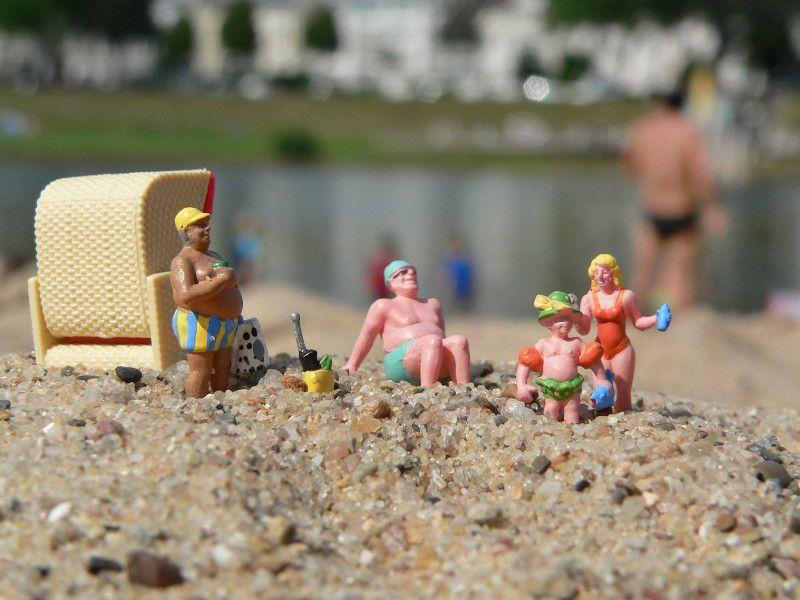 Ab An Den Strand! Toll, Wenn Man Im Sommer In Der Sonne Am