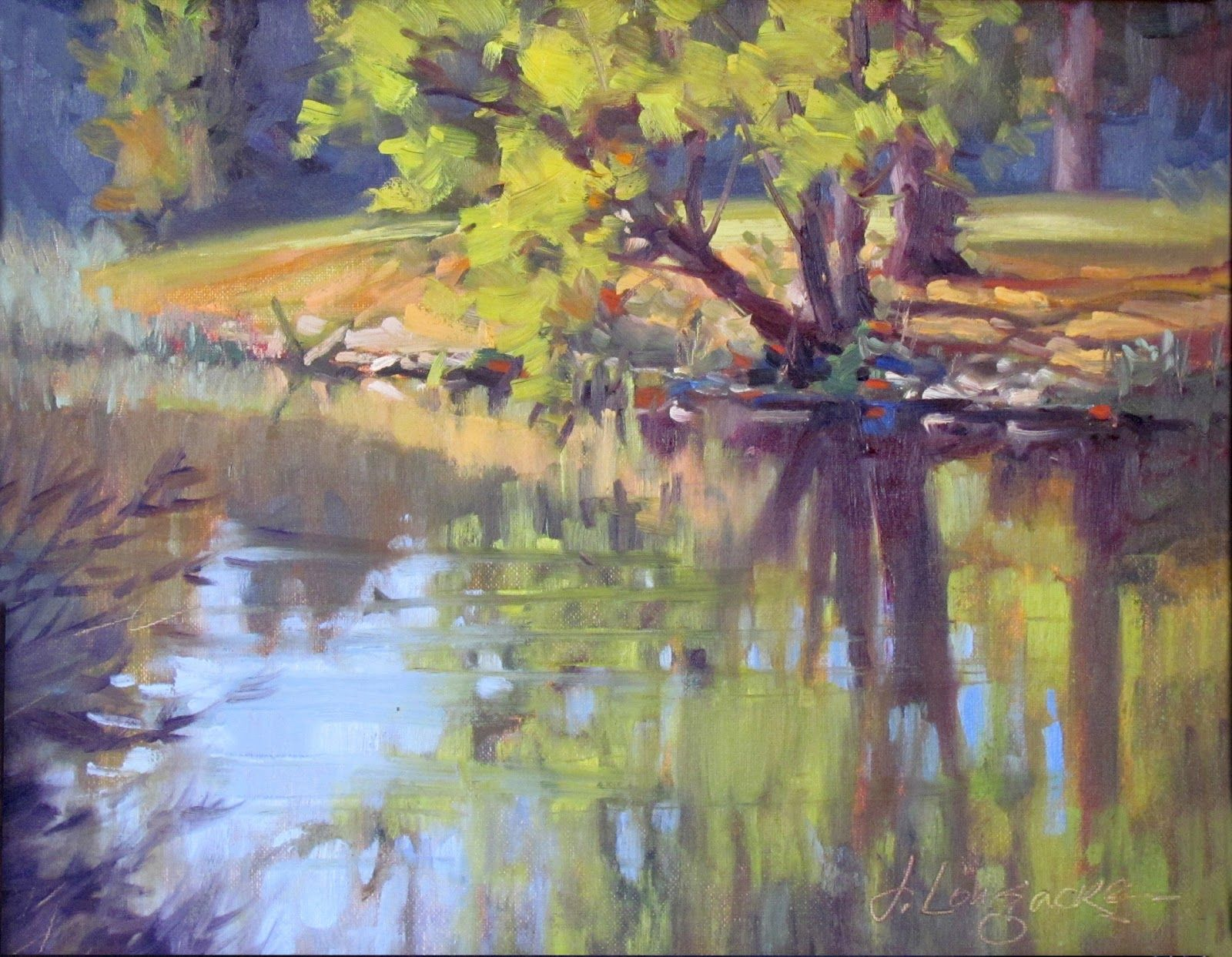 Morning Reflection Plein Air Landscape Oil Painting By Texas Modern Impressionist Jimmy Longacre Plein Air Landscape Painting Landscape Artist