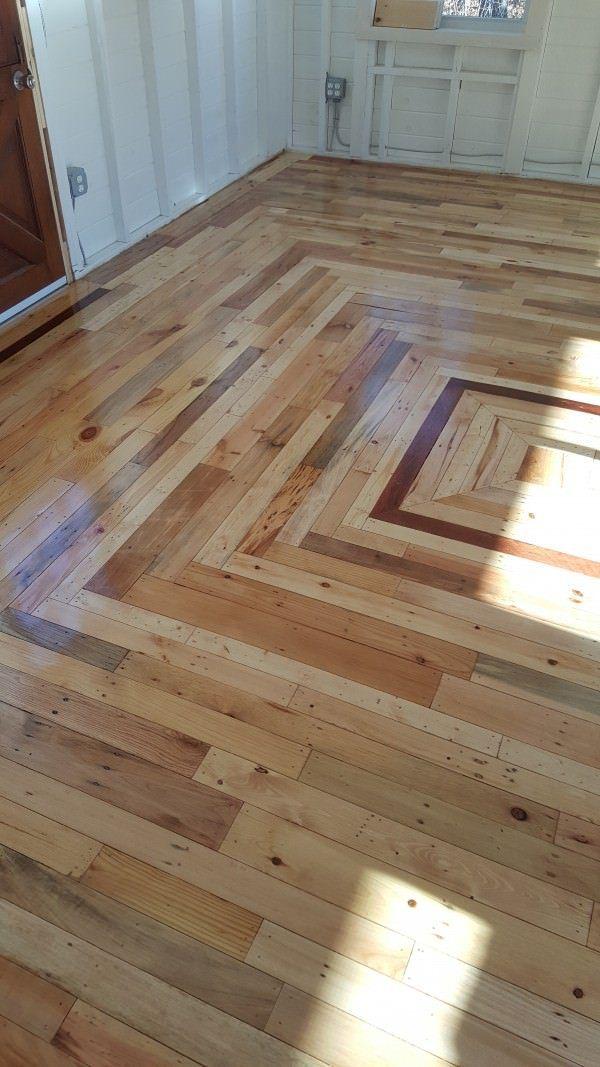 Pallet Floor In My Outback Cottage Diy Flooring Pallet